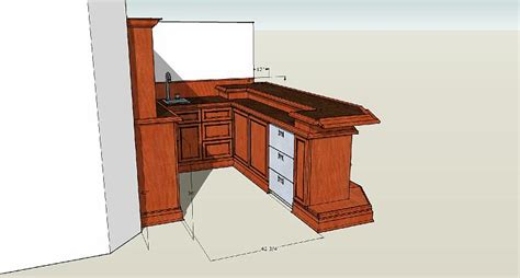 Bar Dimensions Woodworking Wik Bar Back Dimensions Rendered