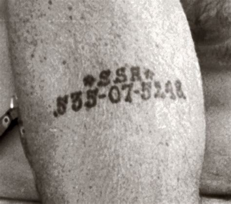 holocaust tattoo history social security card number tattoos predated auschwitz