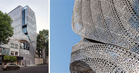 building  mexico city features  sculptural