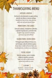 thanksgiving 2014 menu thanksgiving menu