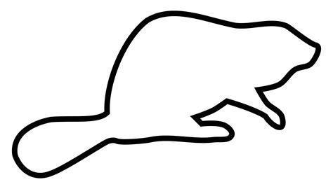 Image Outline by Clipart Beaver Outline Silhouette