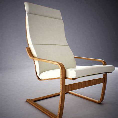 poang armchair ikea ikea poang armchair 3d model