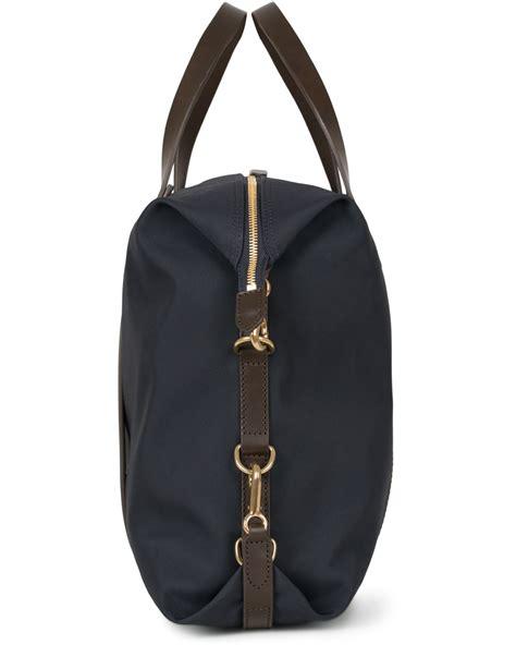 mismo m s utility duffle bag navy brown hos careofcar