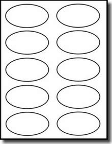 printable labels oval 1 000 oval labels 3 25 x 2 inch 10 stickers per sheet