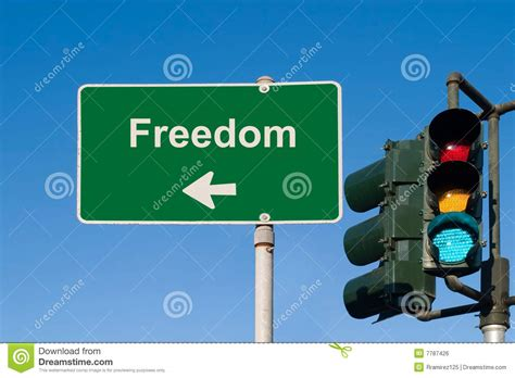 freedom sign stock photo image of copy name liberation