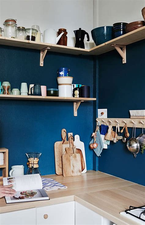 65 ideas of using open kitchen wall shelves shelterness picture of blue backsplash is perfect to highgligh wood