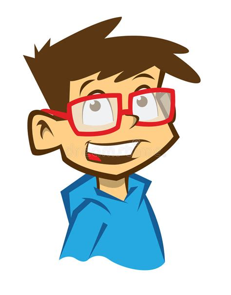 clipart occhiali ragazzo sorridente fumetto con gli occhiali