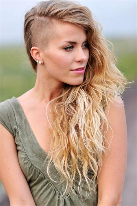long to bald female haircuts half shaved hairstyles tumblr hot girls wallpaper