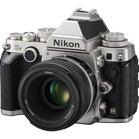 nikon df with 50mm f 1 8 lens silver nikon df at b h photo
