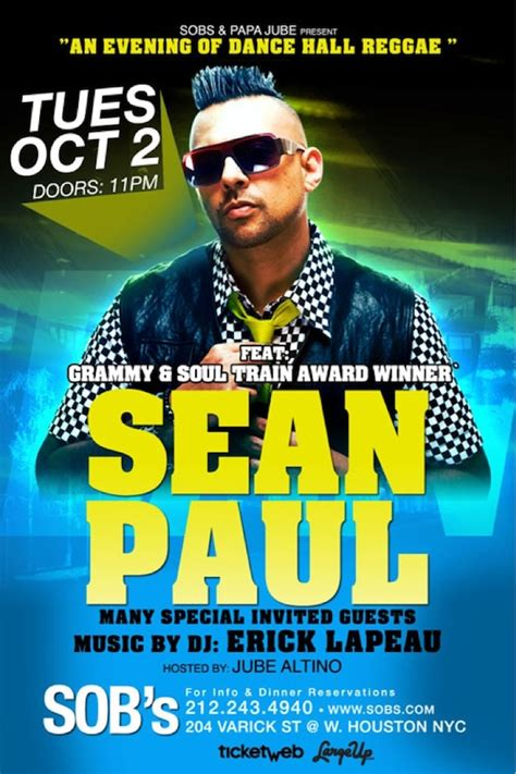 giveaway win nyc tickets swag from sean paul largeup - Tv Giveaway Flyer