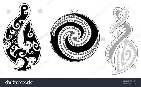 detailed maori koru fern eternity twist and fish hook