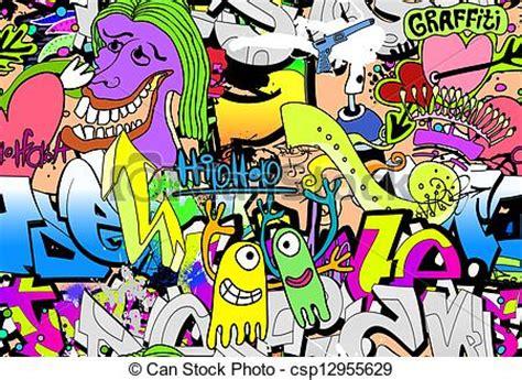 wallpaper animasi grafiti 落書き 壁 芸術 背景 ヒップホップ csp12955629のベクターイラスト クリップアート