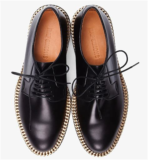 Raf Simons Dress Shoes by Raf Simons Gold Chain Dress Shoes Upscalehype