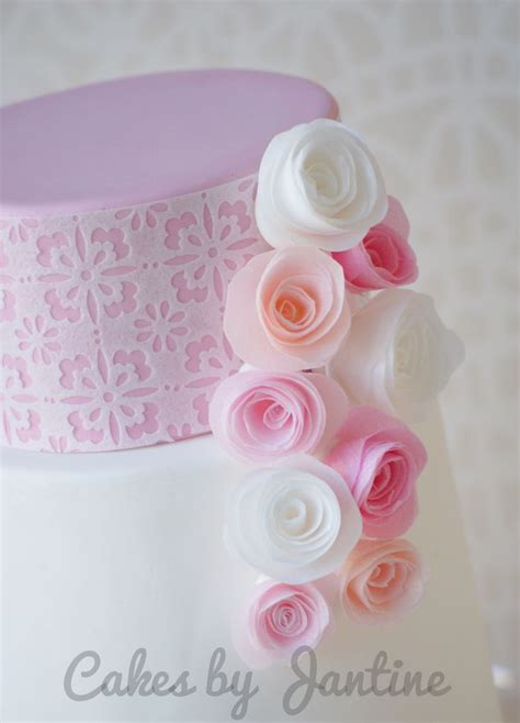 wafer paper roses tutorial wafer paper rolled roses www facebook com cakesbyjantine