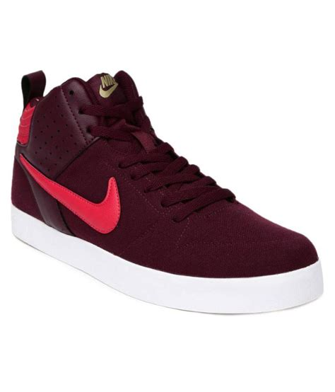 Nike Mid Sneakers Casual nike nike liteforce iii mid sneakers maroon casual shoes