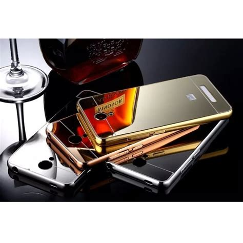 Bumper Mirror Xiomi Note 2 aluminium bumper with mirror back cover for xiaomi redmi note 2 golden jakartanotebook