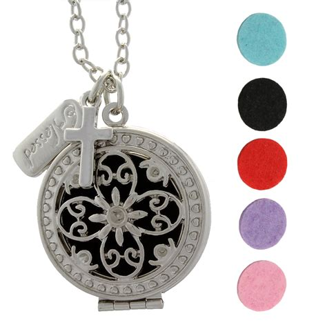 oil diffuser necklace blessed cross essential oil diffuser necklace locket