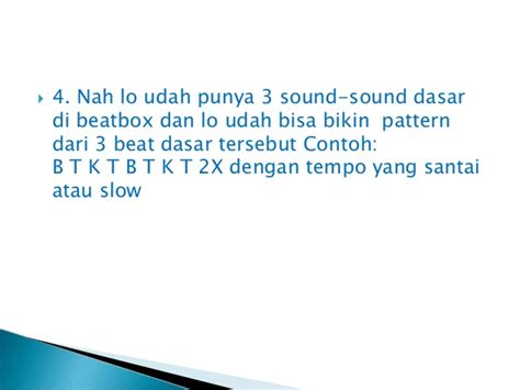 Pattern Di Beatbox | tutorial dasar dalam beatbox