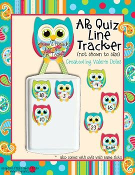 owl quiz printable ar rc quiz line tracker cute owl theme by valerie king