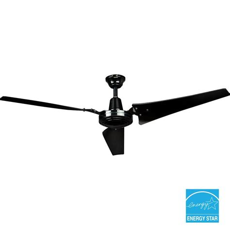 black industrial ceiling fan hton bay 60 in black industrial ceiling fan 26829