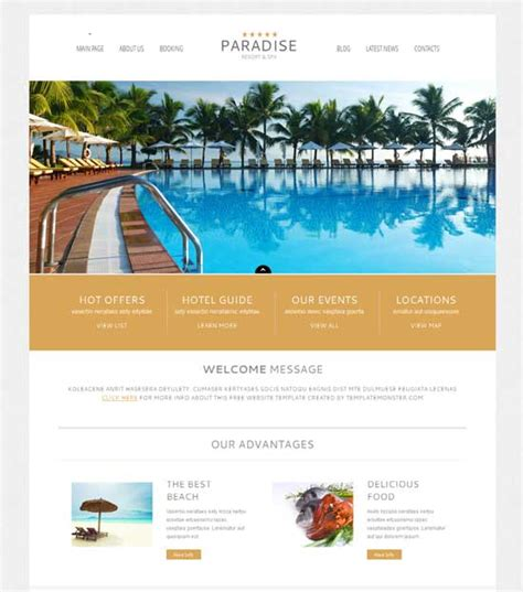 50 best hotel wordpress themes free amp premium