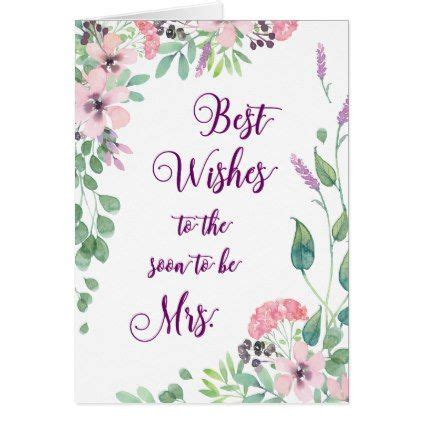 Best Wishes Bridal Shower Gift Tag Greeting Invitation