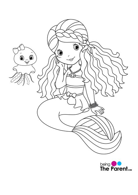 easy mermaid coloring pages 10 easy mermaid coloring pages for your little ones