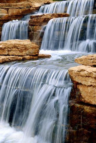 waterfall landscape designs   backyard paradise