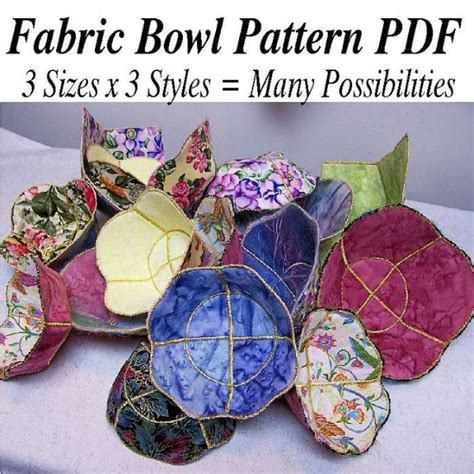pattern for fabric bowls fabric bowl pattern instructions pdf 3 andrusgardens
