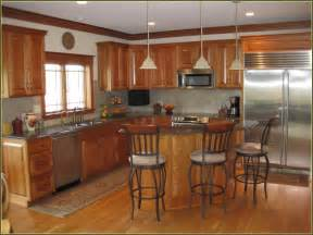 Cherry Cabinet Kitchen Natural Cherry Cabinets With Granite Home Design Ideas