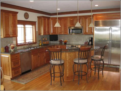 natural cherry kitchen cabinets natural cherry cabinets with granite home design ideas