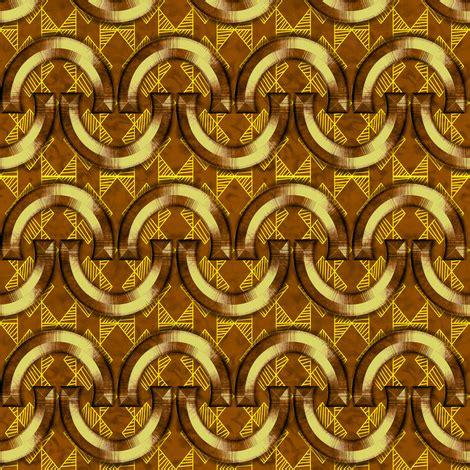 horseshoes yellow geo brown wallpaper stradling_designs
