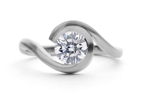 wave platinum engagement ring mccaul goldsmiths