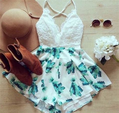 Mini Flowy Jumpsuit romper dress flowy dress fashion mini dress white dress flower dress colourful