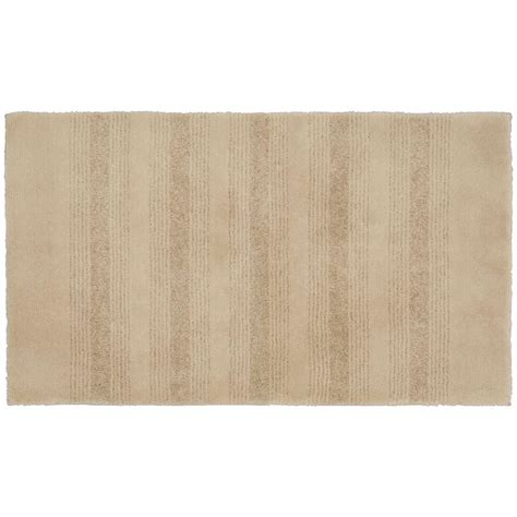 Bathroom Accent Rugs Garland Rug Essence Linen 24 In X 40 In Washable Bathroom Accent Rug Enc 2440 05 The Home Depot