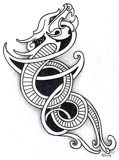 norse tattoos google search dragon pinterest norse
