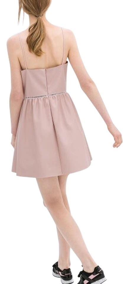 Zipper Zara Dress zara pink faux leather collection back zipper dress 46