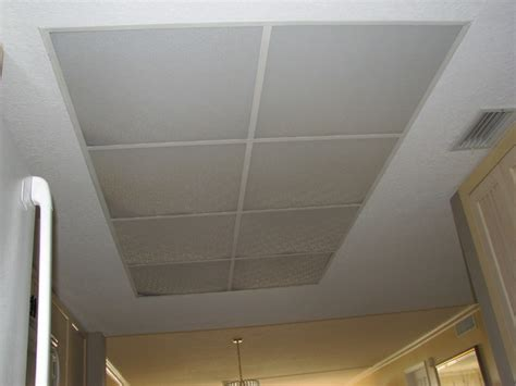 Lighted Tray Ceiling 1980 S Style Kitchen Drop Ceiling Lighting To A Custom
