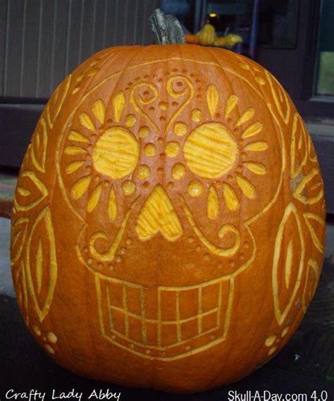 crafty lady abby skull a day 4 0 tutorial 21 pumpkin skull