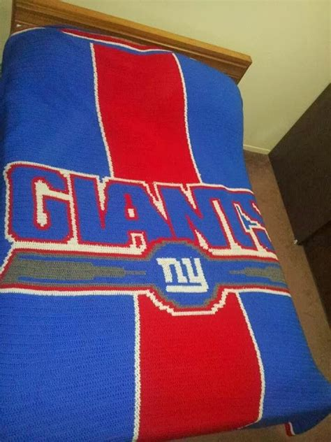 New York Giants Blankets by Kendra S Crocheted Creations New York Giants Afghan