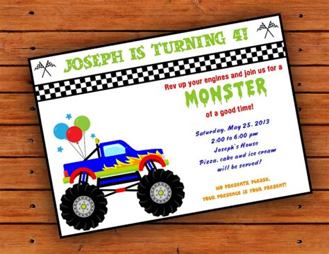 truck invitation template items similar to truck invitation 4x6 or 5x7