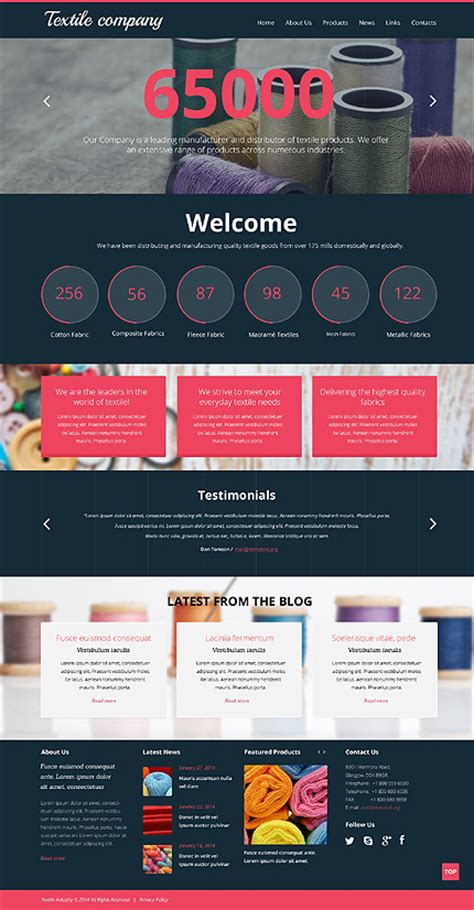 templates for textile website best website templates 2014 entheos