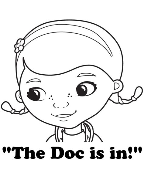 doc mcstuffins the doc is in coloring page h m