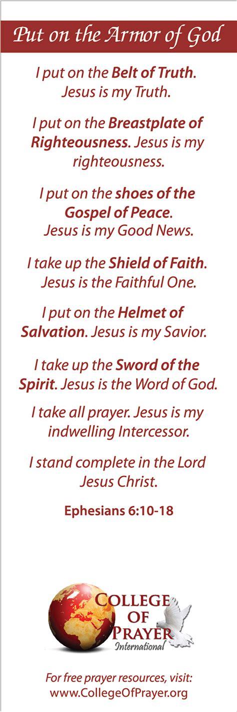 kingdom pattern for prayer prayer pattern armor bookmarks