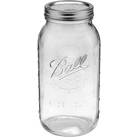 10 X 12 Jug Rug - wide half gallon 64 oz glass jars with