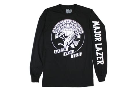 Major Lazer 4 T Shirt universal brotherhood longsleeve t shirt on black major