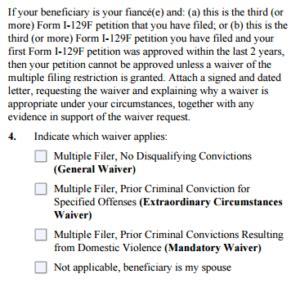 Fiance Visa Criminal Record I 129f K1 Fiance Visa Criminal Records Of Petitioners
