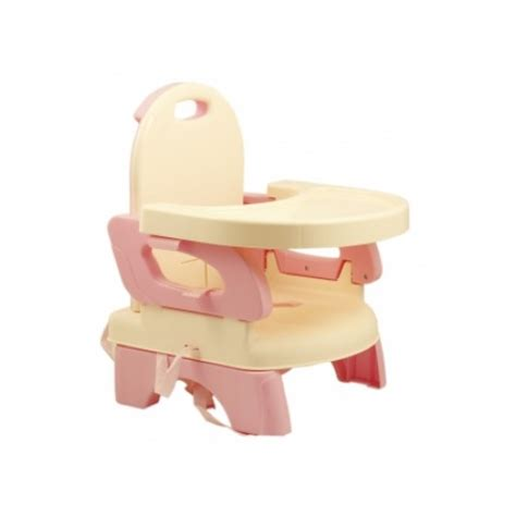 Mastela Folding Booster Seat Grey And Pink mastela deluxe comfort folding booster seat pink