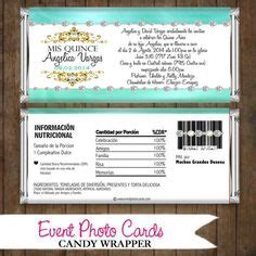 Aqua Water Bottle Wrapper 1000 images about quinceanera favor and labels on