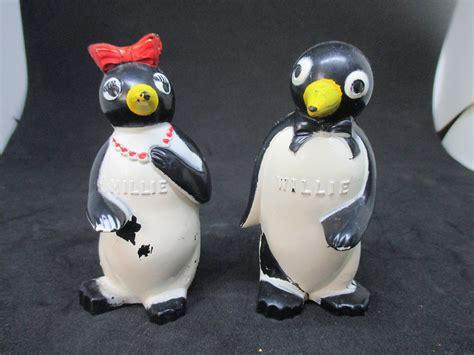 penguin kitchen decor decobizz com willie and millie penguin salt pepper shakers decor